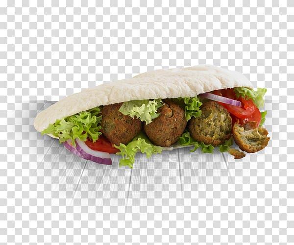 Falafel Hamburger Wrap Pita Veggie burger, salad transparent.