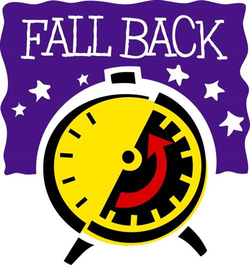 Daylight Savings Time Clip Art Fall Back 2014.