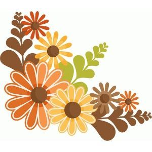 Silhouette Design Store: fall flowers.