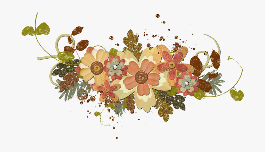 Fall Flowers Png, Cliparts & Cartoons.