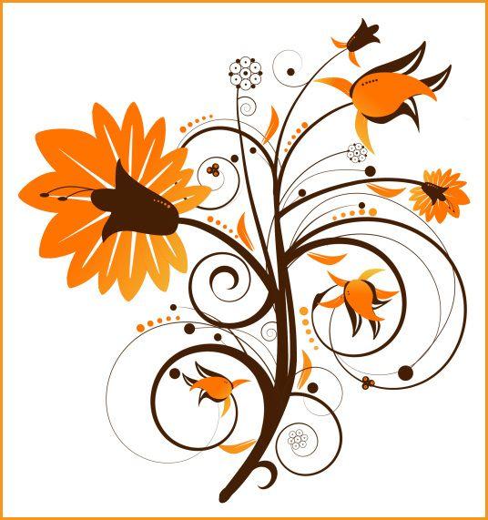 Fall Flowers Clip Art.