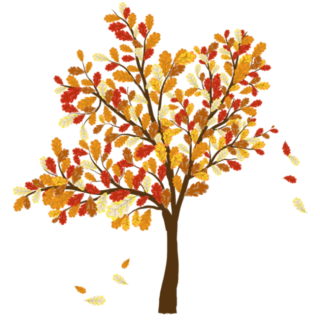 Colorful Clip Art For The Fall Season.