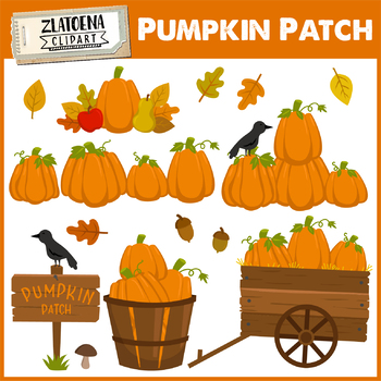 Pumpkin Patch Clip art Thanksgiving Halloween Autumn Clipart Fall Season.