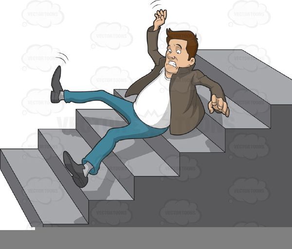 Falling Down Stairs Clipart.