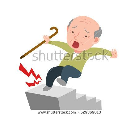 Image result for fall down stairs clipart.