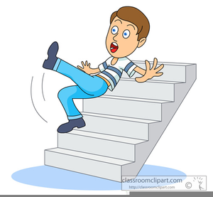 Clipart Falling Down Stairs.