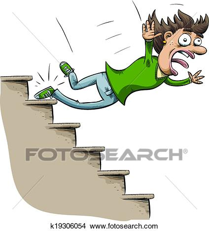 Stair Fall Clipart.