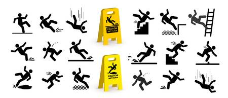 134 Falling Over Man Stock Vector Illustration And Royalty Free.