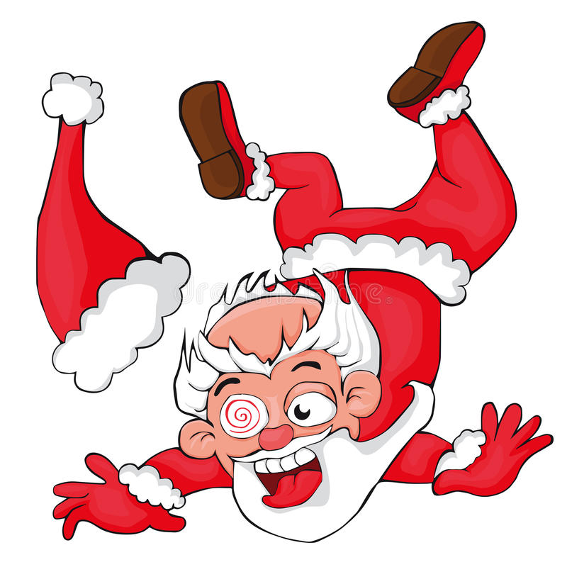 Santa Falling Over Clipart & Free Clip Art Images #11411.