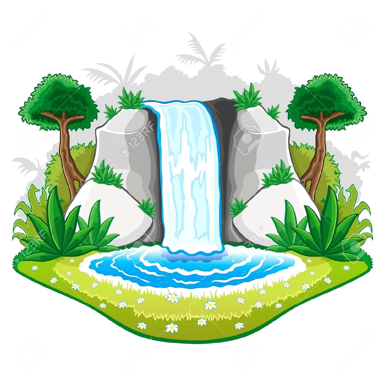 Waterfall Clipart.