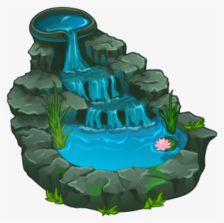Free Waterfall Clip Art with No Background.