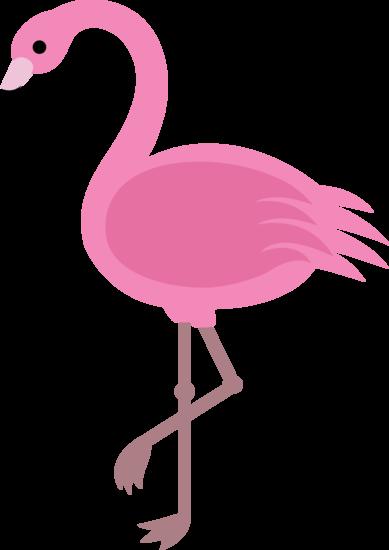 Elegant Pink Flamingo Clip Art.
