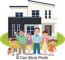 Family home Vector Clipart Royalty Free. 15,610 Family home clip.