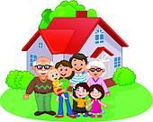 Happy family Clipart Vector Graphics. 52,454 happy family EPS clip.