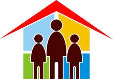 Family With House Sun Clip Art Stock Photography.