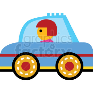 cartoon family car vector icon clipart. Royalty.
