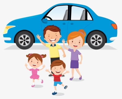 Free Family Car Clip Art with No Background.