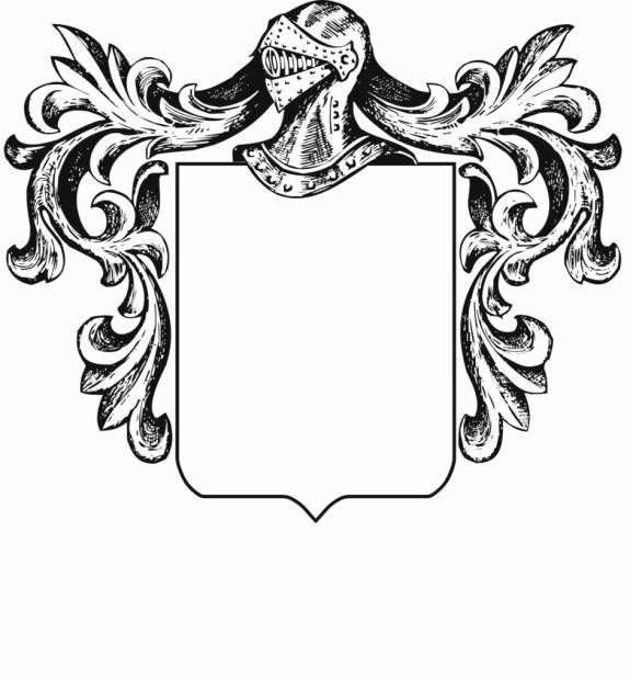 Blank Family Crest Template.