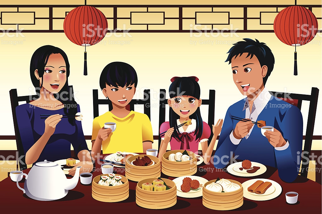 Family Eating Clip Art, Vector Images & Illustrations.