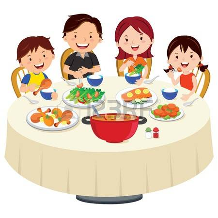 3,622 Family Eating Cliparts, Stock Vector And Royalty Free Family.