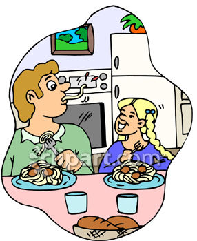 Family Dinner Clipart.