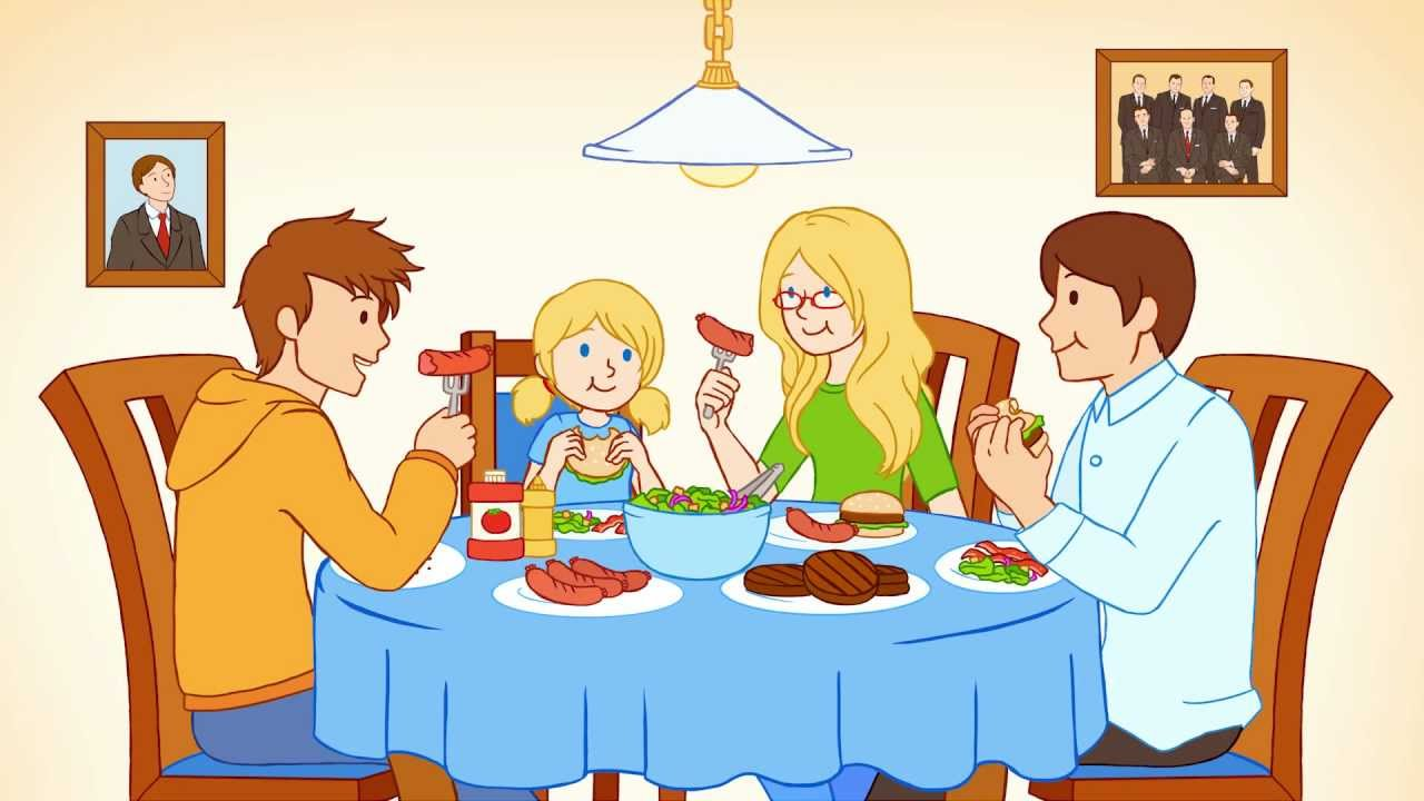 Eating With Family Clipart.