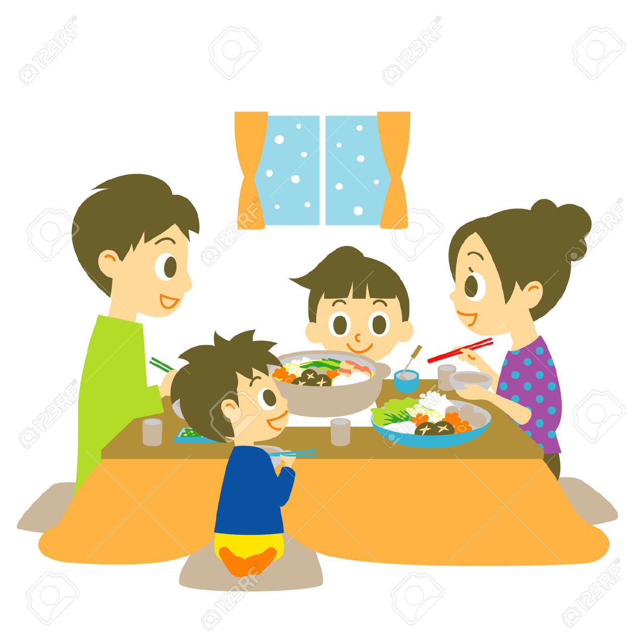 Eating Dinner Clipart Group (+), HD Clipart.