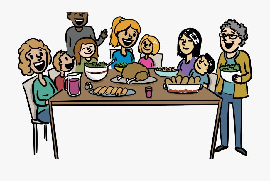 Meal clipart family dinner, Meal family dinner Transparent.