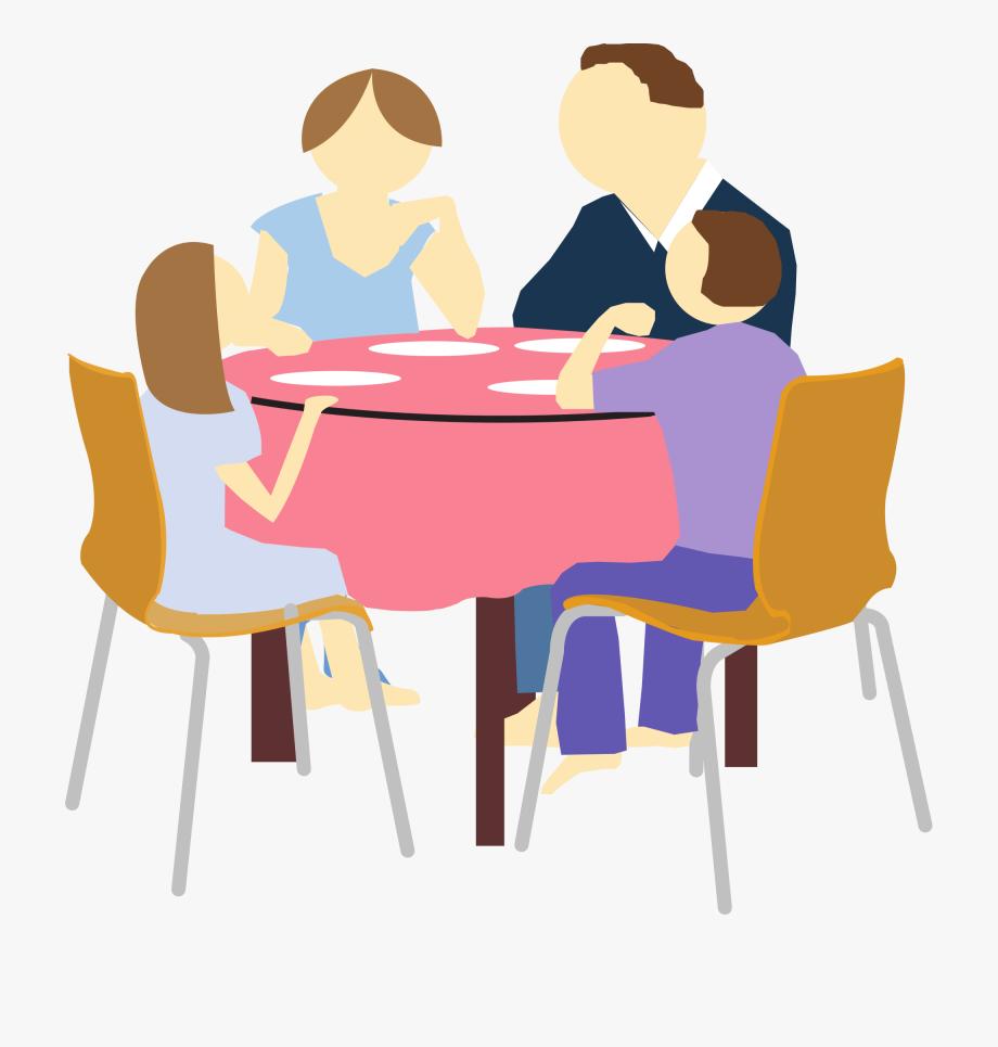 Family Eating Clipart.