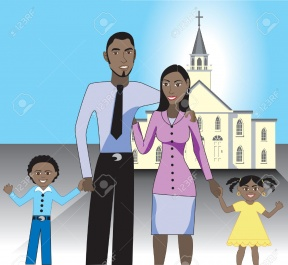 Clipart Family Going To Church.