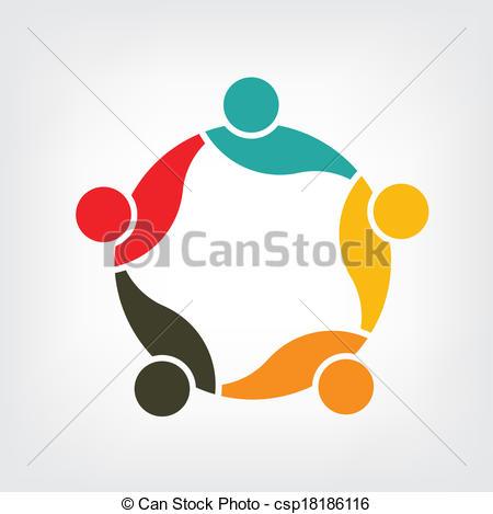 Vector Clip Art of Logo Vector Family Group 5 csp18186116.