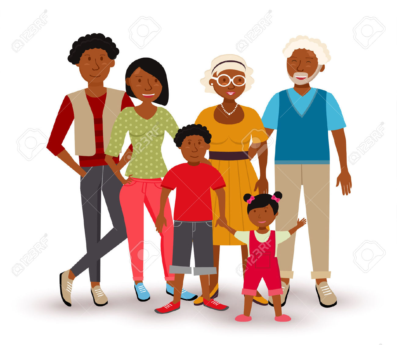 People Collection: Happy Multi Generation Family Group With Dad.