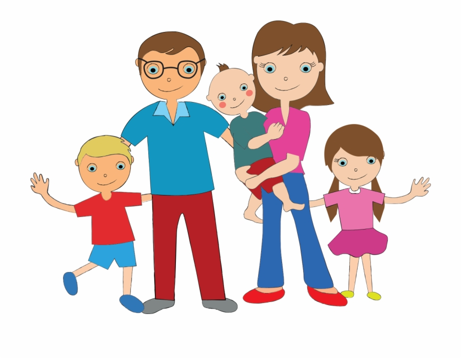 Family Of 5 Clipart Png.
