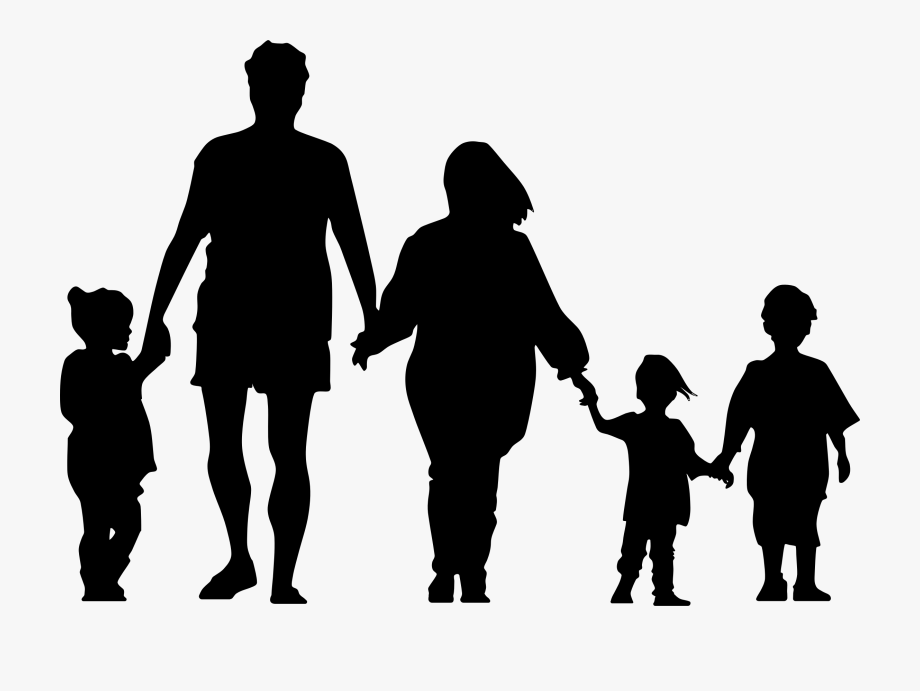 Silhouette Of A Family At Getdrawings.