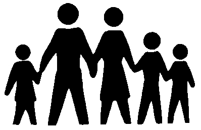 Free Silhouette Family Of 5, Download Free Clip Art, Free.
