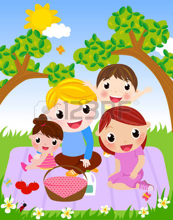 2,078 Family Picnic Stock Illustrations, Cliparts And Royalty Free.