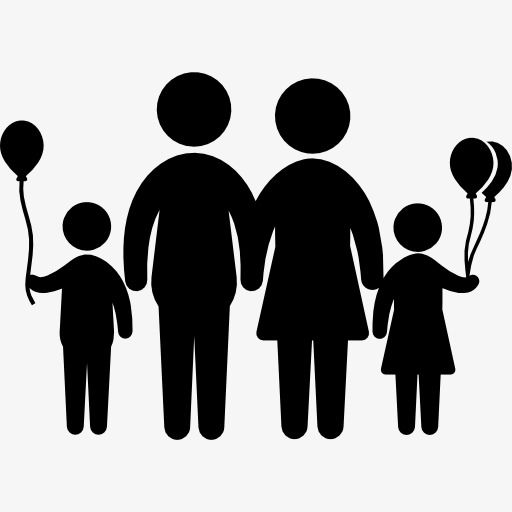 Silhouette Family, Family Clipart, Family PNG Transparent.