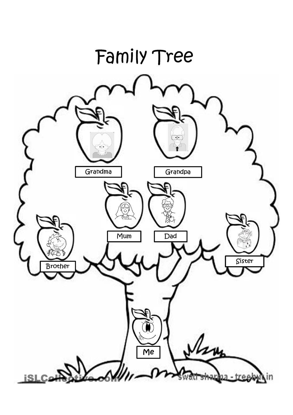Family Tree Clipart Black And White.