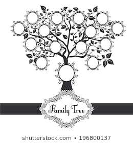 Family tree black and white clipart 2 » Clipart Portal.