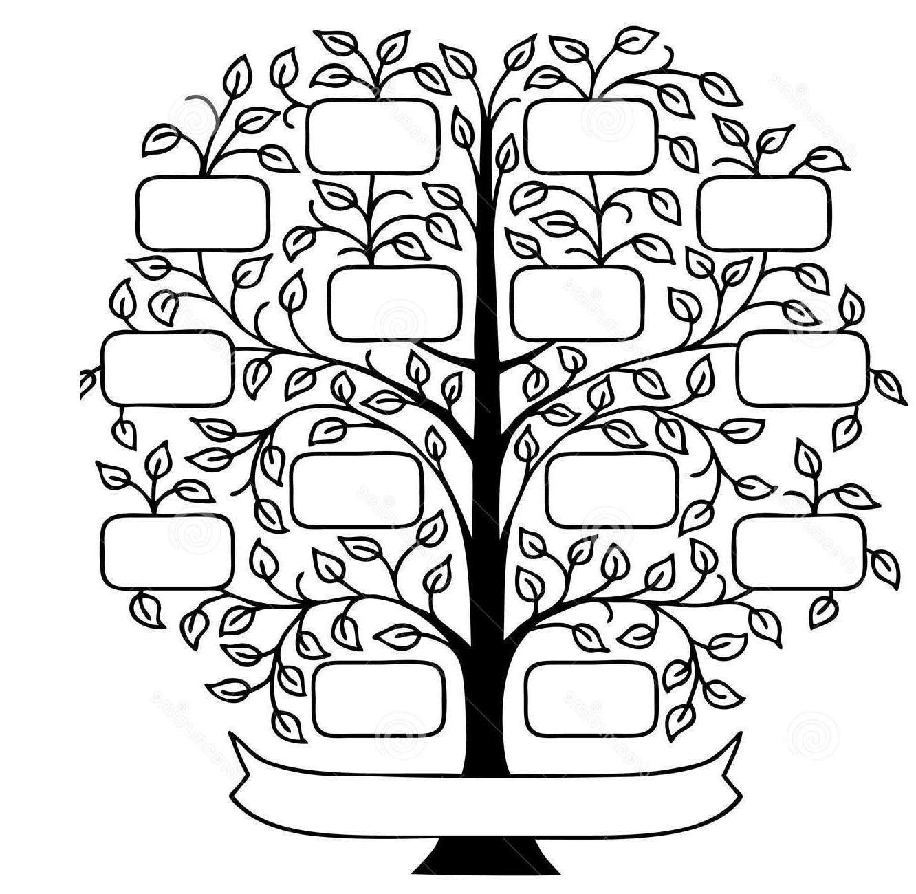 Awesome Family Tree Clipart Pictures Black And.