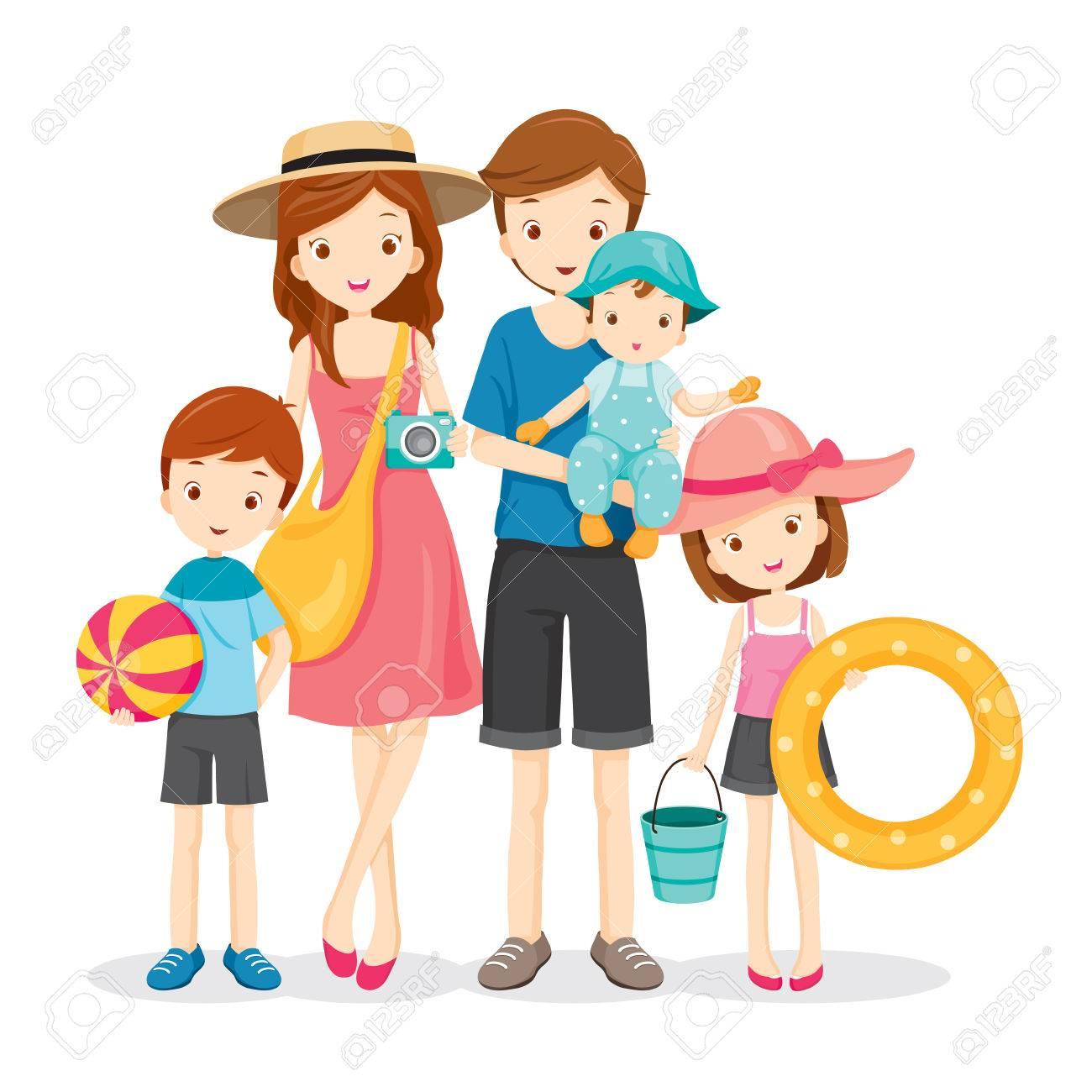 Family Family Vacation Holiday Clipart.