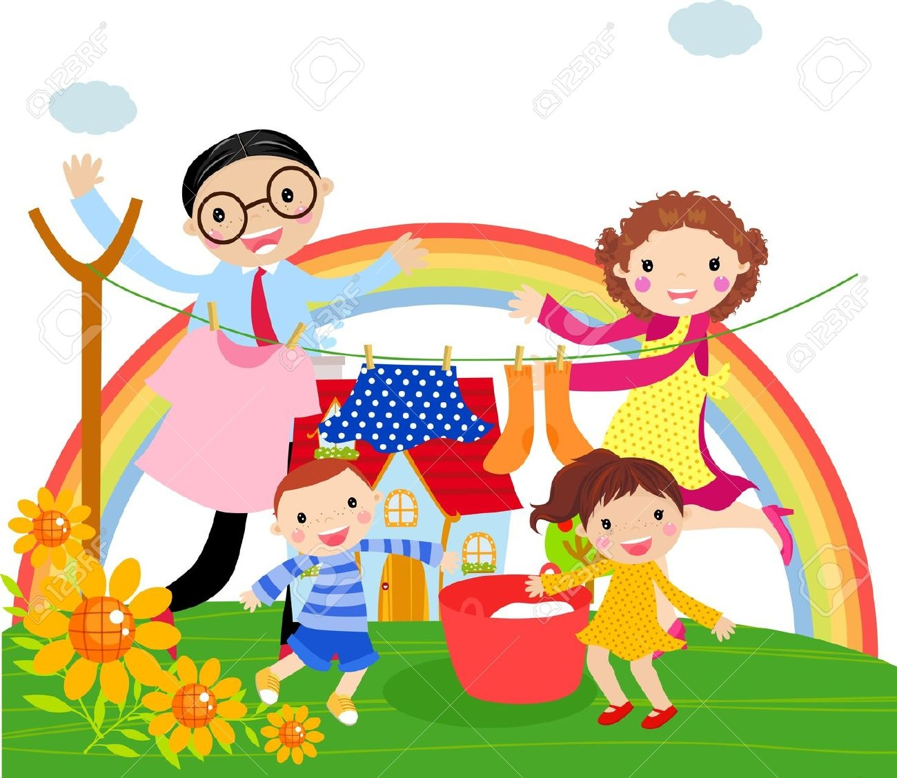 clipart family working together 20 free cliparts