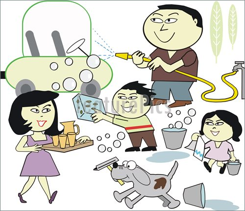 Family Working Together Clipart (46+).