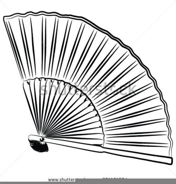Art Deco Fan Clipart.