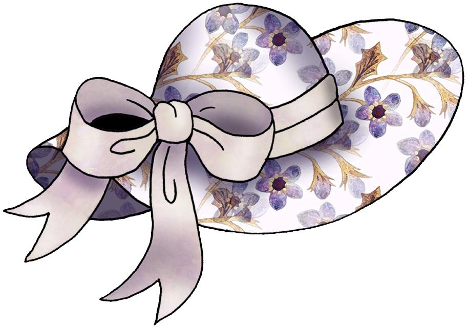 Ladies Fancy Hats Clip Art N4 free image.