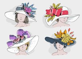 Fancy Hat Free Vector Art.