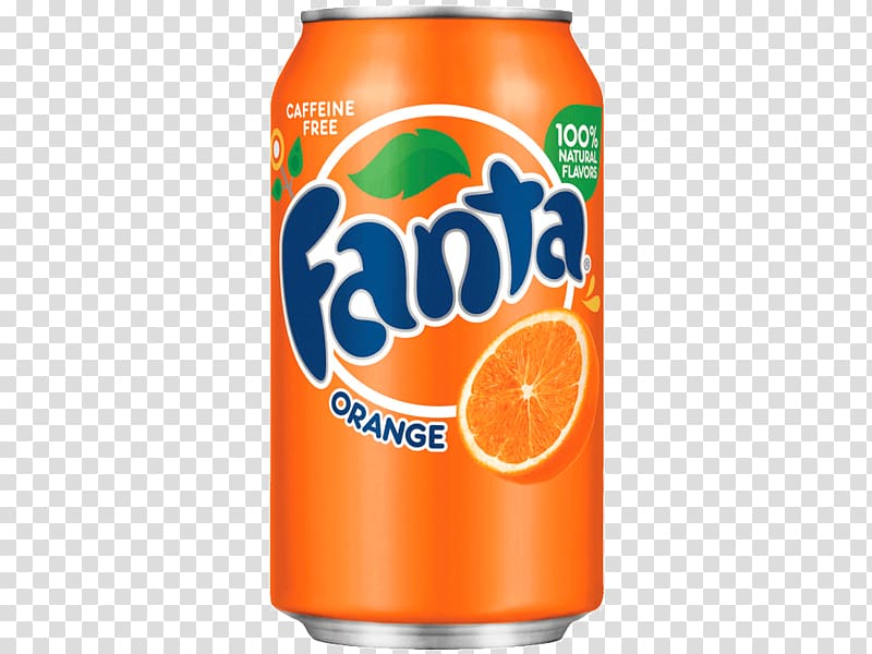Fanta Orange soda can, Fanta Orange Large Can transparent.
