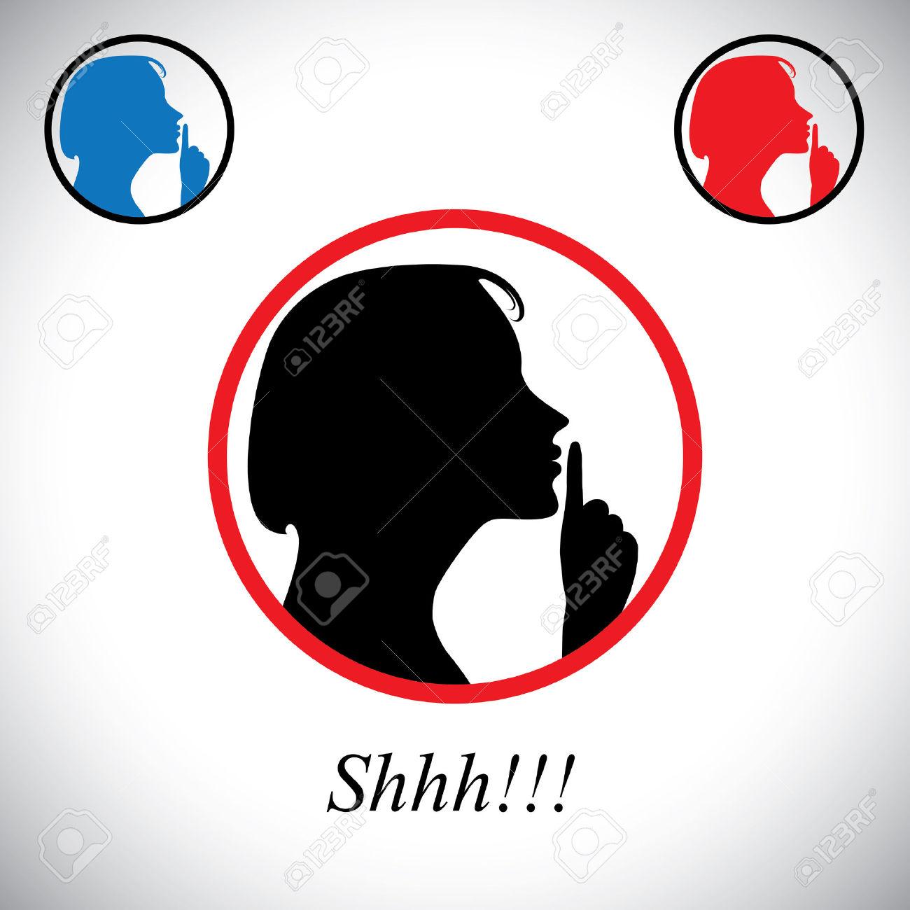 Ragazza Gesticolano Silenzio Che Dice Shh Usando La Mano.