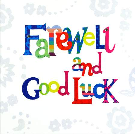 Clipart Farewell Card.