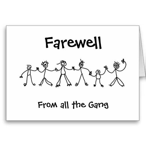 Clipart Farewell Card Clipground